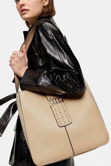 Topshop BRANDY Light Pink Hobo Bag   large handbags - flipped