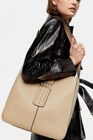 Topshop BRANDY Light Pink Hobo Bag   large handbags
