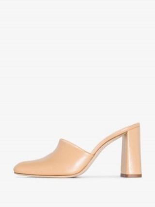 BY FAR BYFAR NINA 95 LTHR PMP MULE ~ block heeled mules - flipped
