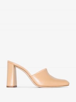 BY FAR BYFAR NINA 95 LTHR PMP MULE ~ block heeled mules