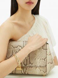 LAUREN RUBINSKI Cable-chain 14kt gold bracelet – chunky bracelets