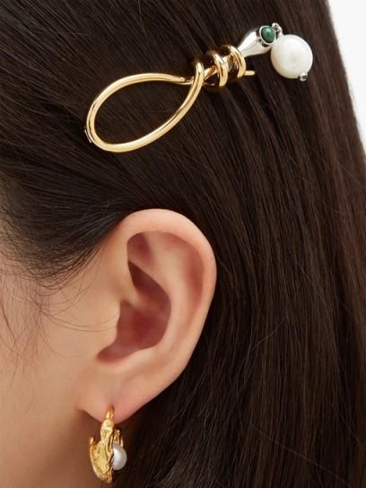 CHLOÉ Callie pearl-drop snake hair clip