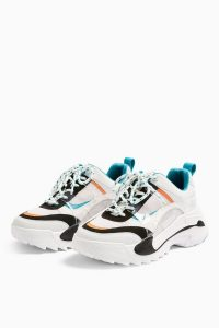 TOPSHOP CANDID Teal Chunky Trainers