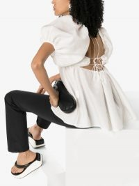 Cecilie Bahnsen Rita Open Back Blouse in white