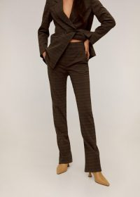 MANGO Check suit pants in brown REF. 67010604-VICENTE-I-LM – checked trousers