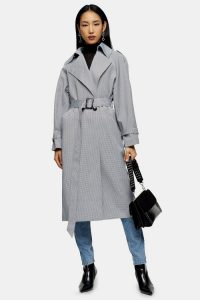 Topshop Check Trench | chic belted coat