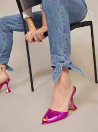 Reformation Chiara Jean in Shasta | ankle tie jeans