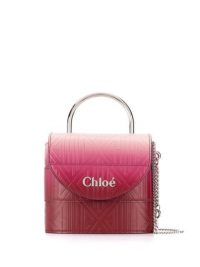 CHLOÉ small Aby Lock crossbody bag in pink