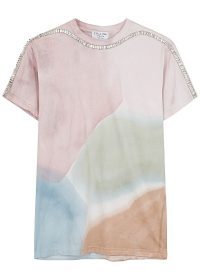 COLLINA STRADA X Charlie Engham Sporty Spice tie-dyed T-shirt / embellished tee