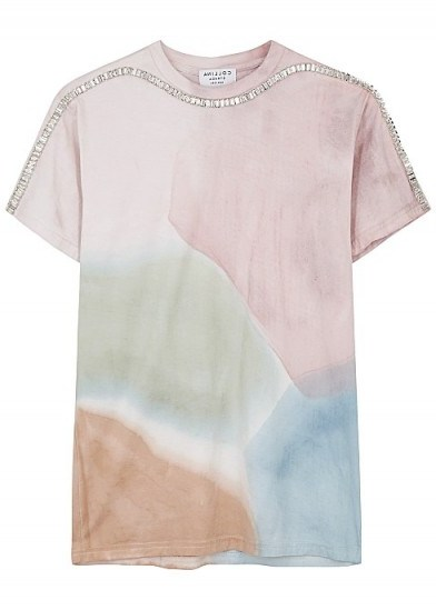 COLLINA STRADA X Charlie Engham Sporty Spice tie-dyed T-shirt / embellished tee - flipped