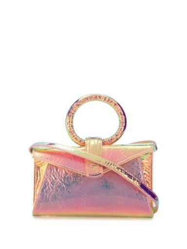 COMPLÉT Valery mini clutch in rose-pink ~ small holographic effect bags