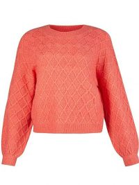OLIVER BONAS Coral Stitch Knitted Jumper | bright coloured jumpers
