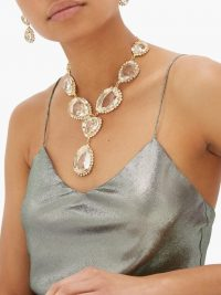 ROSANTICA Cuori crystal drop necklace ~ event necklaces ~ eye-catching accessories
