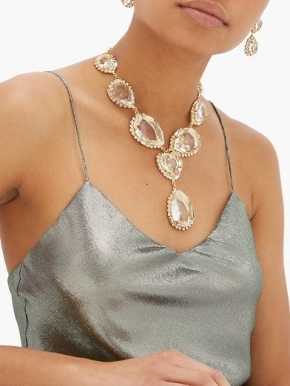 ROSANTICA Cuori crystal drop necklace ~ event necklaces ~ eye-catching accessories - flipped