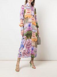 CYNTHIA ROWLEY Reeve maxi shirt dress multicoloued