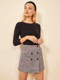 Reformation Easton Skirt in Washington | checked mini