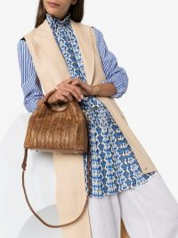 Elleme Brown Baozi Raffia And Leather Tote Bag