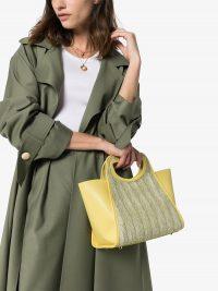 ELLEME Cupidon raffia tote bag in yellow