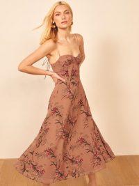 REFORMATION Evangelista Dress in Cecille ~ strappy flared dresses