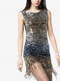 FAITH CONNEXION fringed sequinned mini dress / sparkling party dresses