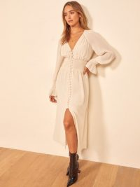 REFORMATION Fia Dress in Cream