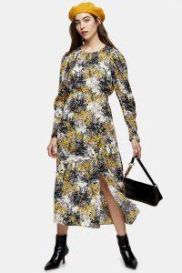 TOPSHOP Fresh Floral Print Midi Dress / all new spring fashion 2020