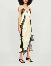 FYODOR GOLAN Lace-embroidered tie-dye crepe dress