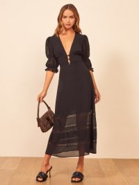 Reformation Ginny Dress in black