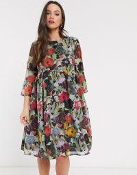 Glamorous Bloom skater dress in vintage Bloom in multi floral | retro prints | feminine maternity fashion