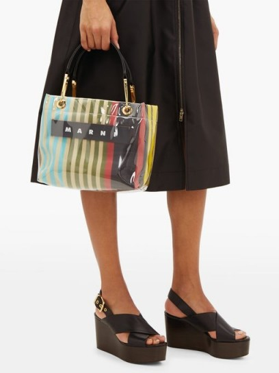MARNI Glossy Grip mini PVC tote bag ~ small multicoloured handbag