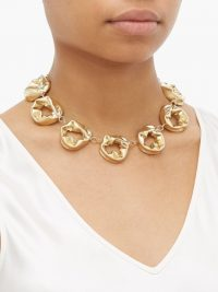 COMPLETEDWORKS Gold Circle vermeil necklace ~ chunky necklaces