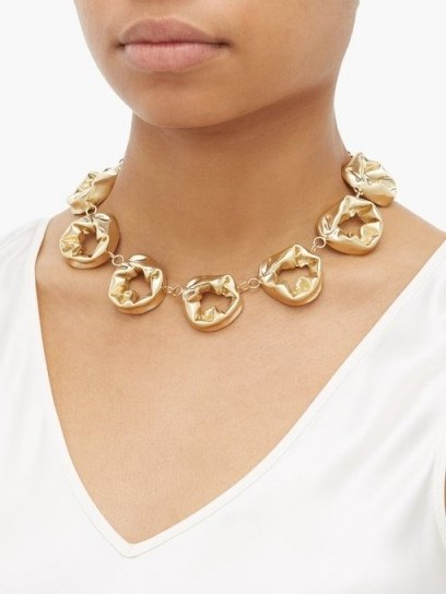 COMPLETEDWORKS Gold Circle vermeil necklace ~ chunky necklaces - flipped