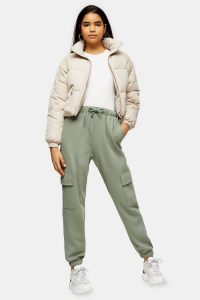TOPSHOP Green 90'S Joggers With Cargo Pockets