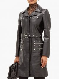 BURBERRY Harewood leather trench coat in black ~ luxury designer coats
