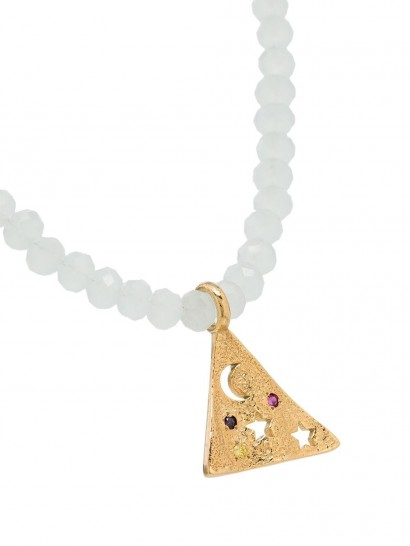 HERMINA ATHENS Melies Pyramis gold-plated necklace
