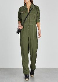 H2OFAGERHOLT Army green Tencel jumpsuit – utilitarian style jumpsuits