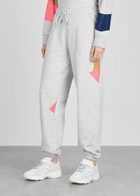 H2OFAGERHOLT Grey colour-block cotton-blend sweatpants