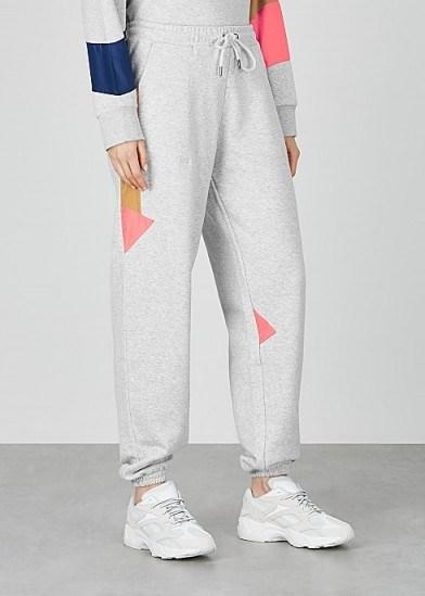 H2OFAGERHOLT Grey colour-block cotton-blend sweatpants - flipped