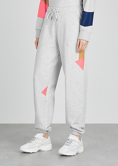 H2OFAGERHOLT Grey colour-block cotton-blend sweatpants