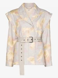 Isabel Marant Étoile Raine Printed Belted Jacket ~ structured jackets