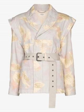 Isabel Marant Étoile Raine Printed Belted Jacket ~ structured jackets - flipped
