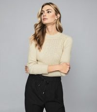 REISS JENNA CHUNKY RIBBED JUMPER CREAM ~ neutral knits