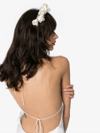 Jennifer Behr White Rosabelle Flower Headband / bridal hair accessory