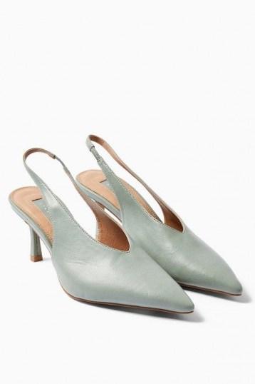 JESSIE Sage Point Slingback Heels – pointed toe slingbacks - flipped