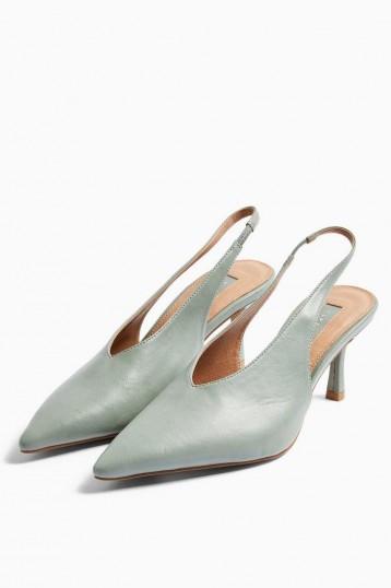 JESSIE Sage Point Slingback Heels – pointed toe slingbacks