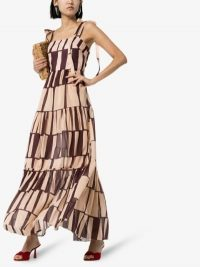 Johanna Ortiz Waterfront Cotton Maxi Dress in Ecru / Purple | vintage prints