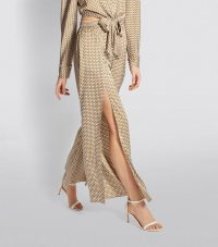 Jonathan Simkhai Wide-Leg Chain Print Trousers ~ floaty pants