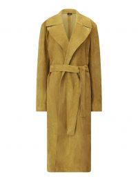 JOSEPH June Suede Coat in Khaki ~ luxe belted coats