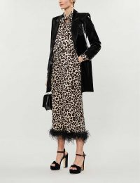 KITRI Apollo leopard-print satin trousers ~ evening glamour ~ glamorous party clothing