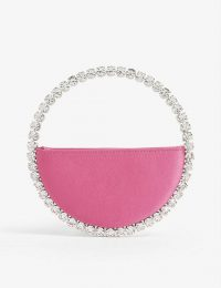 L'ALINGI Eternity satin clutch in pink 663 – luxe crystal bag
